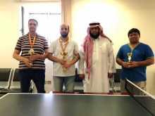 انتهاء بطولة تنس الطاولة لأعضاء هيئة التدريس الساكنين بالسكن الجامعي